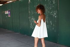 Christina Caradona | trop rouge | white leather dress by misdguided
