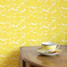 Buy Yellow, MISP 1009 MissPrint Saplings Wallpaper from our Wallpaper range at John Lewis & Partners. Shades Of Yellow, Yellow And Brown, Mellow Yellow, Color Yellow, Lemon Yellow, Bright Yellow, Vinyl Wallpaper, Pattern Wallpaper, Colors
