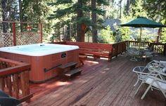 ca-Agate Bay Vacation Rental - VRBO 65363 - 4 BR Lake Tahoe North Shore CA Cabin in CA, 4 BR Redwood Cabin, 2 Living Rooms, Wifi, Hot Tub, Sleeps 14