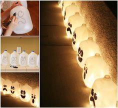 Creative Ideas - DIY Halloween Lanterns from Recycled Milk Jugs