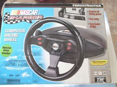 NASCAR Charger Thrustmaster Computer Racing Wheel NEW in Box (Dos/Window 95/98) #ThrustmasterMotorSports