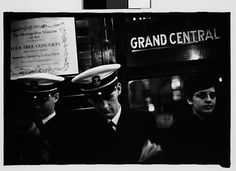 Walker Evans (American, 1903–1975). [Subway Passengers, New York City: Sailors, Young Woman on Times Square Shuttle], January 25, 1941. The Metropolitan Museum of Art, New York. Walker Evans Archive, 1994 (1994.253.602.3) © Walker Evans Archive, The Metropolitan Museum of Art #newyork #nyc
