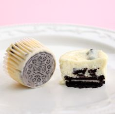 The Cookies and Cream Cheesecakes couldn't be any easier. Each one has a full Oreo as the crust! the-girl-who-ate-everything.com