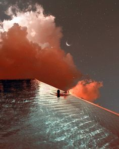Some things are just meant to be in between you and the moon. Photo via: Sky Aesthetic, Aesthetic Vintage, Aesthetic Photo, Aesthetic Pictures, Aesthetic Drawing, Aesthetic Pastel Wallpaper, Aesthetic Backgrounds, Aesthetic Wallpapers, Beach Please