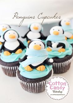 penguins cupcakes...