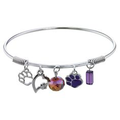 Purple Paw So in Love Charm Bracelet at The Animal Rescue Site