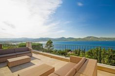 Charming property with views over the bay and Saint Tropez.