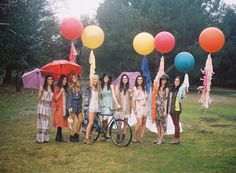 Bridesmaid picnic, Bohemian inspiration, Free People inspiration, picnic in the park, oversized balloons with tassels by Stephanie Shives Studio www.stephshivesstudio.etsy.com, Styled by Sterling Social www.sterlingsocial.com, Photography by Braedon Photography www.braedonphotography.com