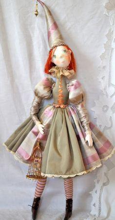 Кукла из серии Коломбины. 70 см Грунтованный текстиль