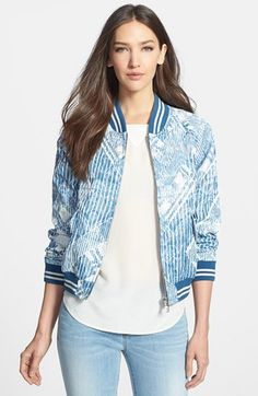 MARC BY MARC JACOBS 'Matelesse' Print Bomber Jacket available at #Nordstrom