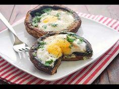 Eggs Baked in Portobello Mushrooms   Healthy Recipes