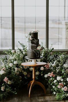 La Mariée Moderne // Styled Bridal Shoot at Crestmont Hall in Calgary, Alberta - Brontë Bride White Wedding Cakes, Beautiful Wedding Cakes, Wedding Desserts, Calgary, Wedding Bride, Wedding Day, Rustic Wedding, Wedding Flowers, Baby Wedding