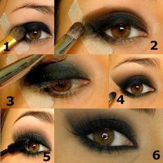 step by step smokey eyes