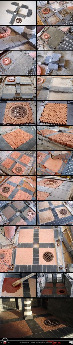 Domus project 67-68-71-98: Brick and stone floor