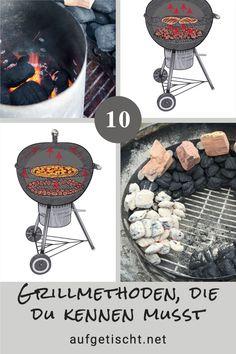 """Hier sind unsere TOP 10 Grillmethoden, die du unbedingt kennen musst. Direktes und indirektes Grillen sind Begriffe die sich auch bei Hobby-Grillern mittlerweile doch schon ganz gut behauptet haben. Doch wie sieht es mit all den anderen Möglichkeiten und Grillmethoden aus, die deinem Grillgut noch so richtig auf die Sprünge helfen und zum perfekten Genussmoment verhelfen? Und was bedeuten dann noch die Begriffe """"Low Bbq, Charcoal Grill, Outdoor Cooking, Your Favorite, Outdoor Decor, Inspiration, Side Dish Recipes, New Recipes, Best Side Dishes"""