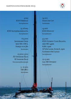 KSSS Racing calendar 2013. SWE East coast.