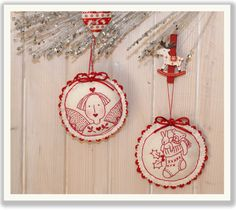 Christmas Stocking Ornament. - Red Brolly