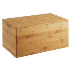PANDA Wooden bamboo bread bin
