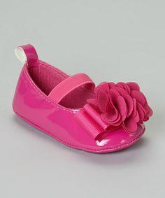 Look at this #zulilyfind! Pink Ribbon Flower Flat by Stepping Stones #zulilyfinds