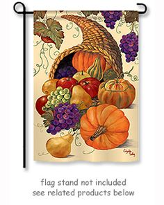 """Harvest Basket Fall Welcome House Flag Autumn Double Sided 28/"""" x 40/"""""""