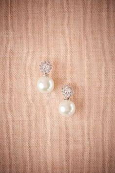 BHLDN Witt Drop Earrings in Bride at BHLDN