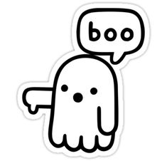 """""""Ghost Of Disapproval"""" Stickers by obinsun 