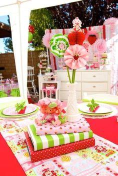 Vintage Strawberry Shortcake Inspired Birthday Party