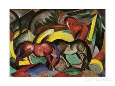 Three Horses, 1912 Giclée-Druck
