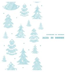 Blue decorated christmas trees silhouettes textile vector - by Oksancia on VectorStock®