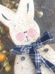 SALE / Primitive Easter  Bunny Salt Dough by cookiedoughcreations, $4.95