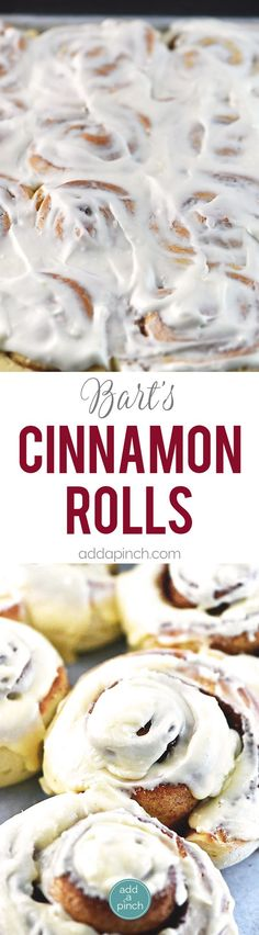 Bart's Cinnamon Rolls - This cinnamon roll recipe produces perfectly light and fluffy cinnamon rolls every time! So simple to make, this is a family favorite cinnamon roll! // addapinch.com
