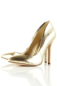 "In Honor of our new trend ""Pretty Military""  this is my shoe pic for the week. :) I love gold."