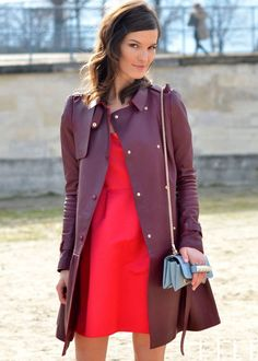 street style burgundy red