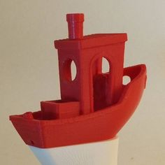 Had to print the #3dbenchy on my  fortus 250 mc. Layers 0.178 mm and support used. #3dprinting #3dtulostus