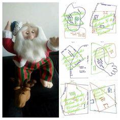 Santa, Baby Dolls, Happy, Christmas Sewing, Christmas Ornaments, Christmas Crafts