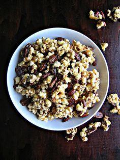 caramel/nut popcorn