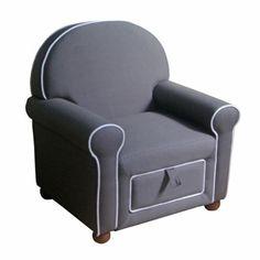 Gray Kids Storage Chair   Kirklands