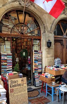 Abbey book shop Paris; photo: Shelley Hunter Beautiful Library, Dream Library, Library Books, I Love Books, Books To Read, Most Romantic Places, Book Cafe, Lectures, Book Aesthetic