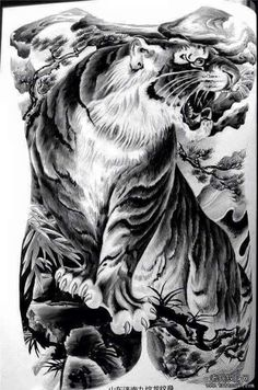 Asian tiger art