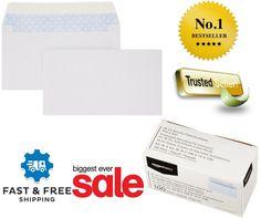 100 Business Envelopes Security Tinted Envelope Peel & Seal Checks Size Mailers #AmazonBasics