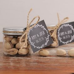 Set of 12 Wedding Favor Treat Jars with by thefavorbox on Etsy