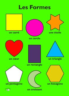 Poster - Les formes - Little Linguist French Language Lessons, French Lessons, Spanish Lessons, Spanish Language, Chinese Language, Japanese Language, French Class, Dual Language, Learning French For Kids