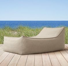 Ibiza Chaise - Designed with all-weather upholstery and enduring style. Water-resistant shell filled with foam and beads for ultimate comfort and flexible support.