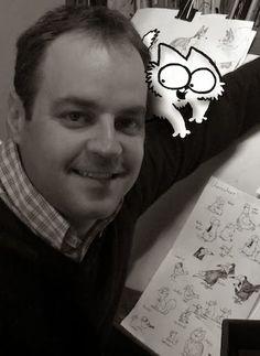 Simon Tofield creator of Simon's Cat... I <3 Simon's Cat!