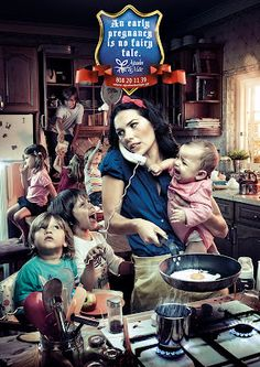 Birth control advertisement featuring Snow White by Fuel