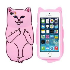 Phone Cases For iPhone 7 6 6s Plus 5 5s Case Cute Cat 3D Cartoon Animals Rock Soft 3D Silicon Cover For iPhone 6 6s 7 Plus Coque