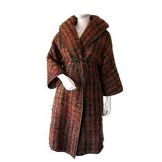1950s BONNIE CASHIN Wrap 'Noh' Coat | From a collection of rare vintage coats and outerwear at http://www.1stdibs.com/clothing/coats-outerwear/