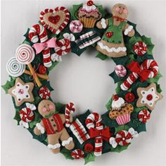 Cookies and Candy Wreath 86264