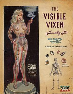 the visible vixen, she'll teach you all about biology (with lipstick and cigarette accessories)