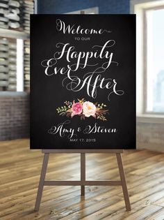 Welcome to our Happily Ever After Sign  by CharmingEndeavours
